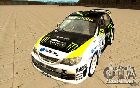 Novos vinis para Subaru Impreza WRX STi para GTA San Andreas esquerda vista