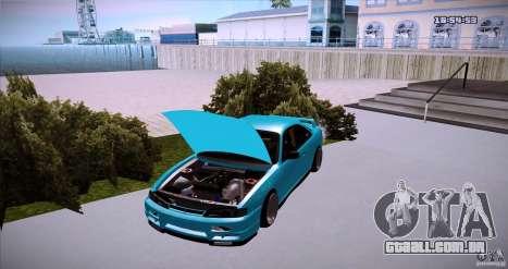 Nissan Silvia S14 JDM WAY para GTA San Andreas traseira esquerda vista