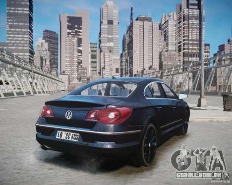 Volkswagen Passat CC para GTA 4 esquerda vista