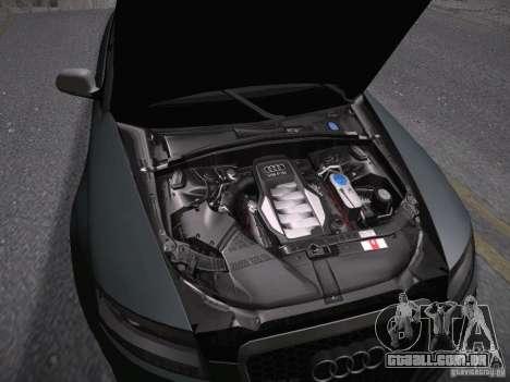 Audi RS6 2009 para GTA San Andreas vista interior