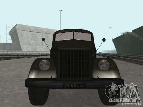 GAZ 51P para GTA San Andreas vista traseira