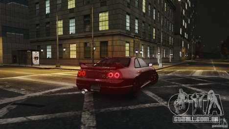 Nissan Skyline R33 GTR V-Spec para GTA 4 vista direita