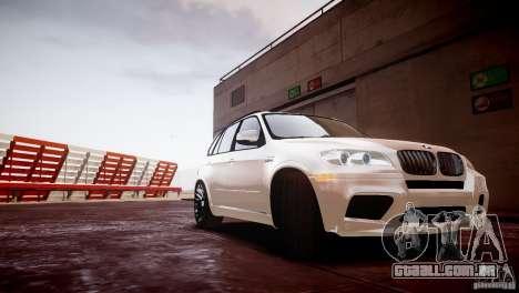 BMW X5M 2011 para GTA 4 traseira esquerda vista