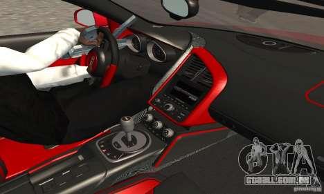 Audi R8 Spyder para GTA San Andreas vista traseira