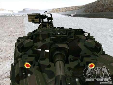 T-90 de Battlefield 3 para GTA San Andreas vista interior