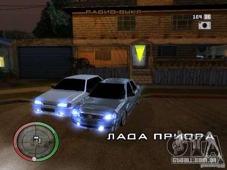 Lada Priora Dag Style para GTA San Andreas traseira esquerda vista
