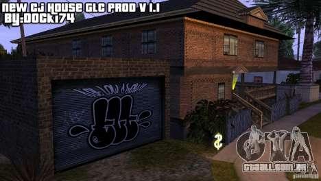 Nova casa CJ (Cj nova casa GLC prod v 1.1) para GTA San Andreas