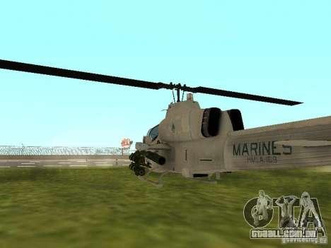 AH-1 Supercobra para GTA San Andreas vista direita
