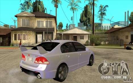 Honda Civic Mugen v1 para GTA San Andreas vista direita