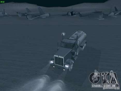 Kenworth Petrol Tanker para GTA San Andreas vista direita