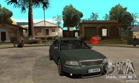 Audi A8 Long 6.0 2000 para GTA San Andreas vista traseira