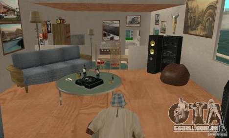 CASA NA ÁGUA para GTA San Andreas vista interior