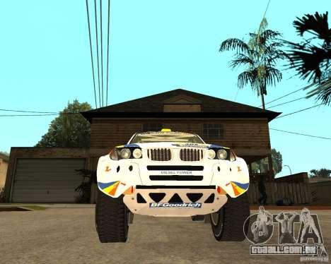 BMW X3CC X-Raid para GTA San Andreas vista traseira