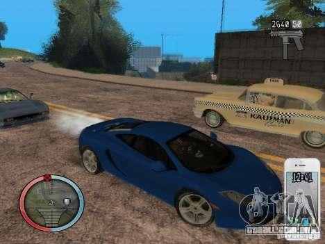 GTA IV HUD Final para GTA San Andreas nono tela