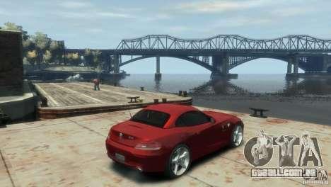 BMW Z4 para GTA 4 traseira esquerda vista
