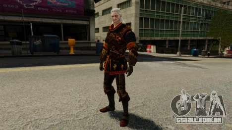 Geralt de Rivia v2 para GTA 4 por diante tela