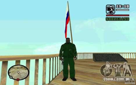 A bandeira da Rússia no Chiliad para GTA San Andreas terceira tela
