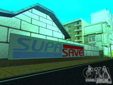 Nova loja de textura SupaSave para GTA San Andreas por diante tela