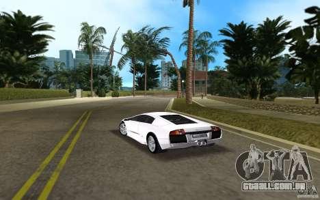 Lamborghini Murcielago V12 6,2L para GTA Vice City vista traseira esquerda