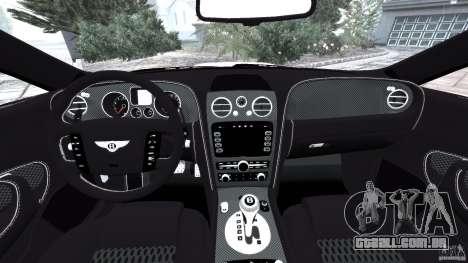 Bentley Continental GT Premier v1.0 para GTA 4 vista de volta