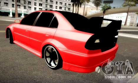 Mitsubishi Lancer Evolution 6 para GTA San Andreas vista traseira