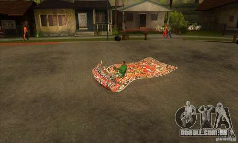 Flying Carpet v.1.1 para GTA San Andreas esquerda vista