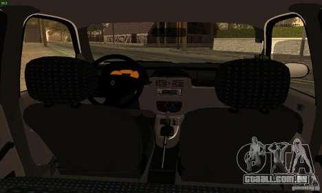 Renault Clio Sedan para GTA San Andreas traseira esquerda vista