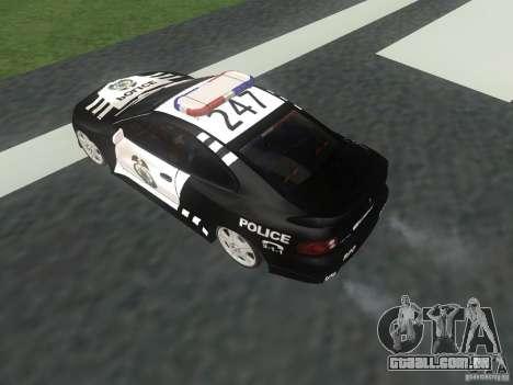 Pontiac GTO Police para GTA San Andreas vista direita