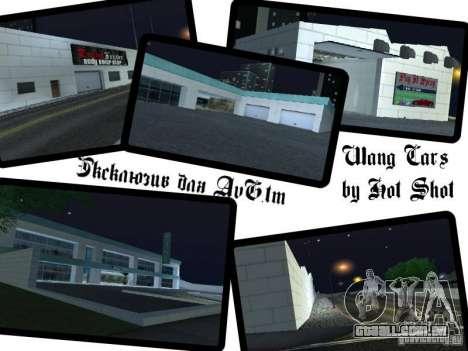Carros novos de Wang Auto-salão de beleza para GTA San Andreas