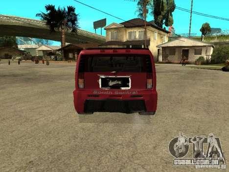 Hummer H2 Tuning para GTA San Andreas traseira esquerda vista