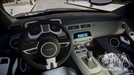 Chevrolet Camaro SS 2009 v2.0 para GTA 4 vista de volta