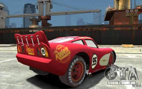 Lighting McQueen para GTA 4 vista direita