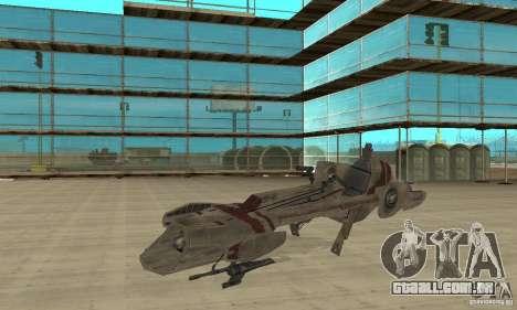 Star Wars speedbike para GTA San Andreas