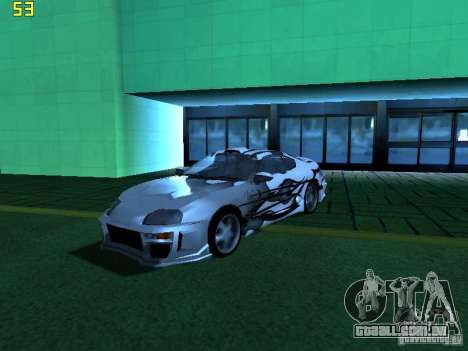 Toyota Supra para GTA San Andreas vista inferior