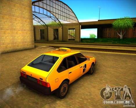 Táxi do AZLK 2141 para GTA San Andreas vista direita