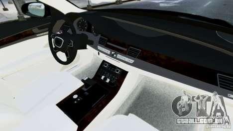 Audi A8 LED 2012 para GTA 4 vista inferior
