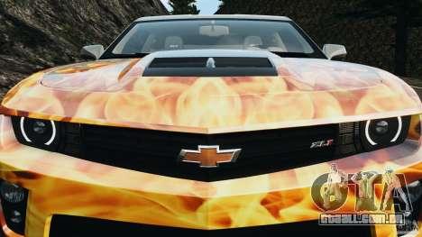Chevrolet Camaro ZL1 2012 v1.0 Flames para GTA 4 rodas