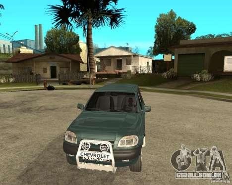NIVA Chevrolet para GTA San Andreas vista traseira