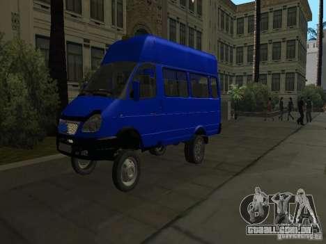 Táxi de gazela 32213 para vista lateral GTA San Andreas