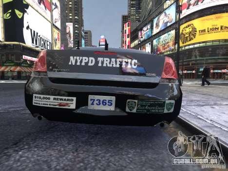 Chevrolet Impala 2006 NYPD Traffic para GTA 4 vista direita