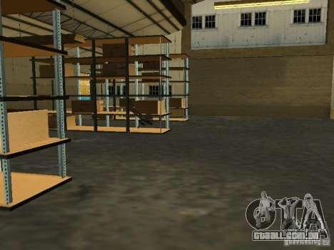 Renovação da base militar nas docas para GTA San Andreas oitavo tela