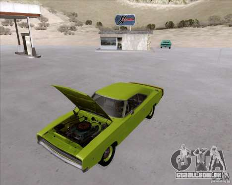 Dodge Charger RT 440 1968 para GTA San Andreas vista traseira