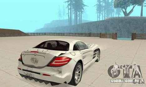Mercedes-Benz McLaren V2.3 para as rodas de GTA San Andreas