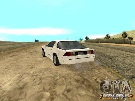 Chevrolet Camaro IROC-Z 1989 para GTA San Andreas
