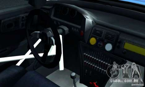 Subaru Impreza 1995 World Rally ChampionShip para GTA San Andreas vista interior