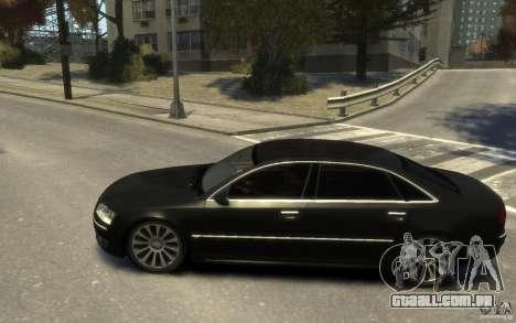 Audi A8 L 6.0 Quattro (Transporter 3) para GTA 4 vista direita