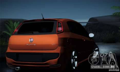 Fiat Punto Evo 2010 Edit para GTA San Andreas interior