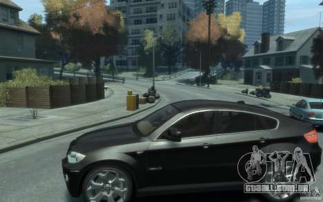 BMW X6 para GTA 4 esquerda vista
