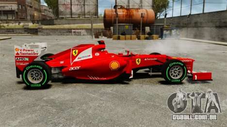 Ferrari F2012 para GTA 4 esquerda vista