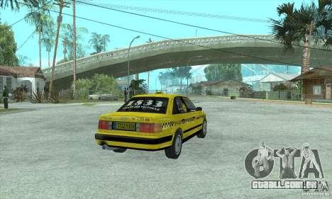 Audi 100 C4 (Taxi) para GTA San Andreas traseira esquerda vista